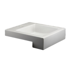 Acqualine Semi Recessed Basin White BG