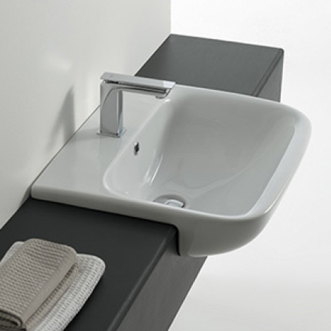 Afrodite Semi Recessed Basin Parisi Bathware And Doorware
