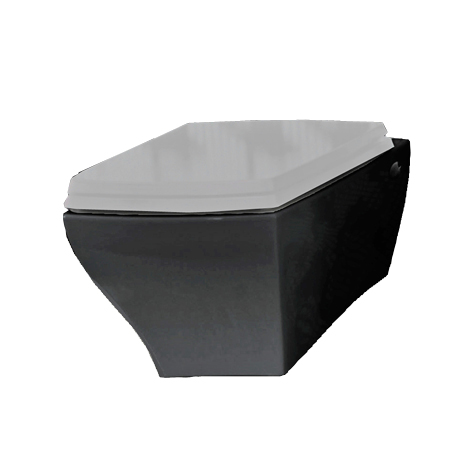 Jazz Wall Hung Pan Black with White Seat