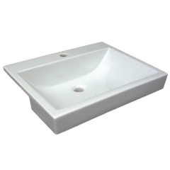 Quasar TH Semi Recessed Basin White BG