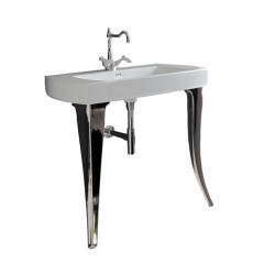 Jazz 91 Console Basin with Silver Legs