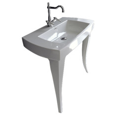 Jazz 91 Console Basin with White Legs