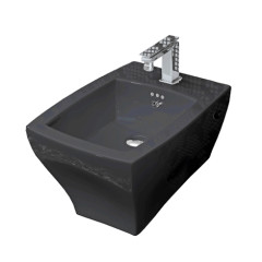 Jazz Wall Hung Bidet Black
