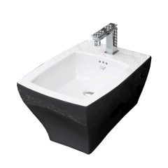 Jazz Wall Hung Bidet Black & White
