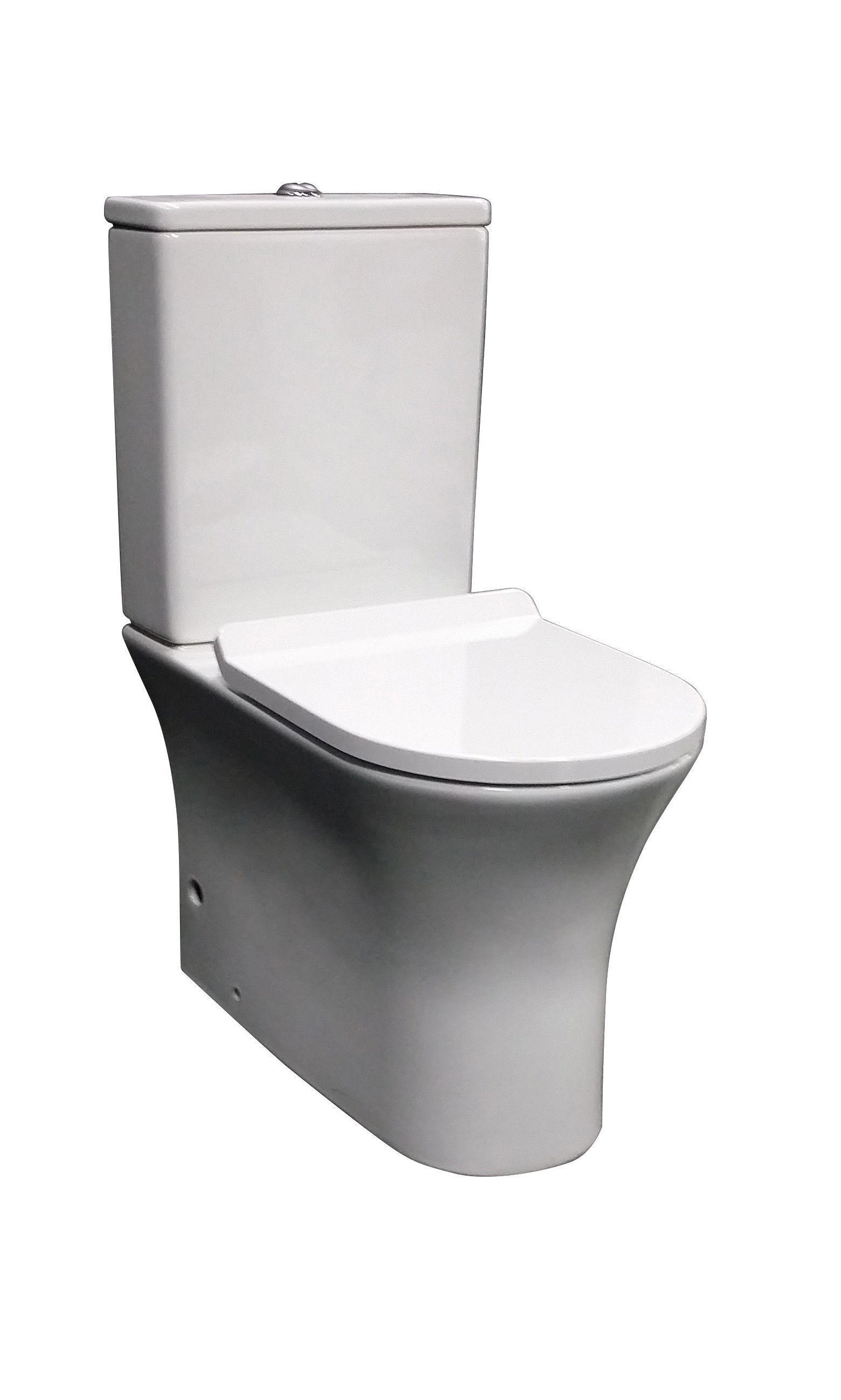 PN700 Slim Wall Faced Suite Image  White Background. Toilet Suites Archives   PARISI Bathware and Doorware