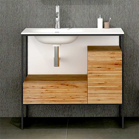 Frame Cabinet and Wash Basin