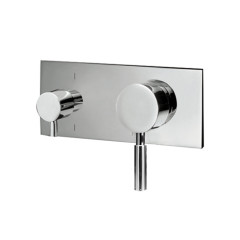 TOLE.04-D2Q_Tole Wall Mixer with 2 way Diverter Rectangular Plate WEB