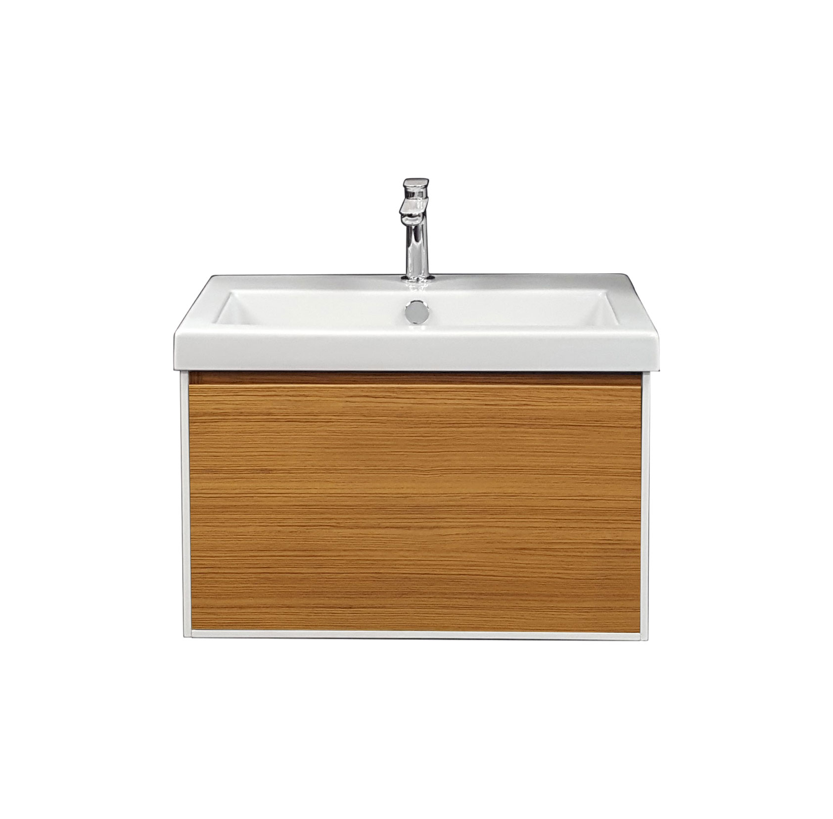 Blade 600 Wall Mounted Cabinet with Ceramic Top - Natural Teak ...