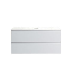 PJ-1000-MW.O_Pure Bianco 1000 Wall Mounted Cabinet Vanity with Jazz Marble Top Ogee CWEB