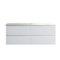 PJ-1200O-MW.X_Pure Bianco 1200 Wall Mounted Cabinet with Jazz Bianco Marble Bench Top Ogee CWEB