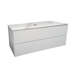 Pure Bianco 1200 Wall Mounted Marble top