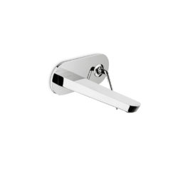 68431Q.05.093_O'Rama Wall Basin Mixer with Spout (Elliptical Plate) Chrome with Matt Black Handle_Image