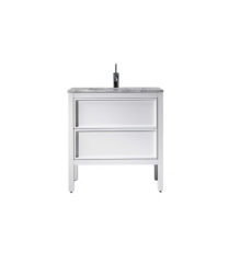 AR-800-GW_Arrivo 800 Floor Cabinet and Wash Basin_Gloss White