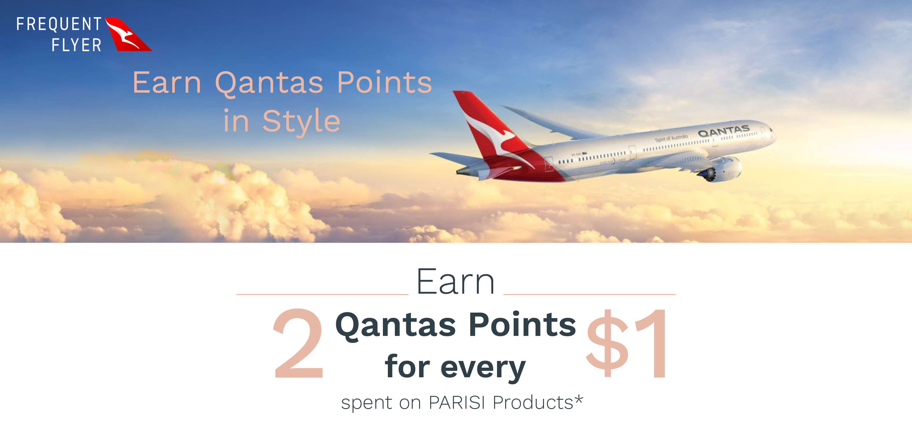 Earn Qantas Points in Style with PARISI