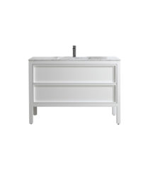 AR-1200-GW_Arrivo 1200 Gloss White Floor Cabinet and Wash Basin