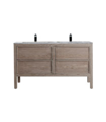 AR-1400-CO_Arrivo 1400 Cashmere Oak Floor Cabinet and Wash Basin