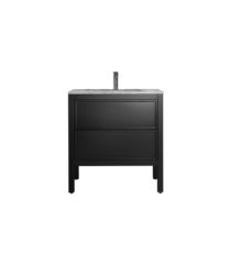 AR-800-MB_Arrivo 800 Floor Cabinet and Wash Basin_Matt Black